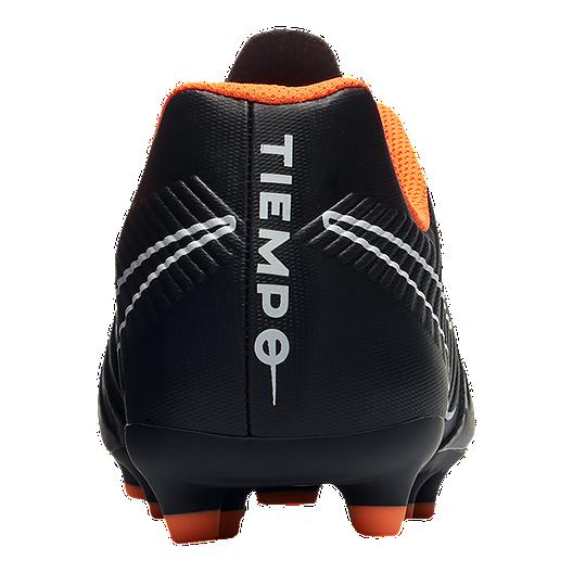 online retailer fc685 cf1c3 Nike Kids' Tiempo Legend 7 Club Firm Ground Grade School Outdoor Soccer  Cleats - Black/Orange
