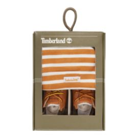 Timberland Baby Crib Bootie Pack Shoes & Hat - Wheat