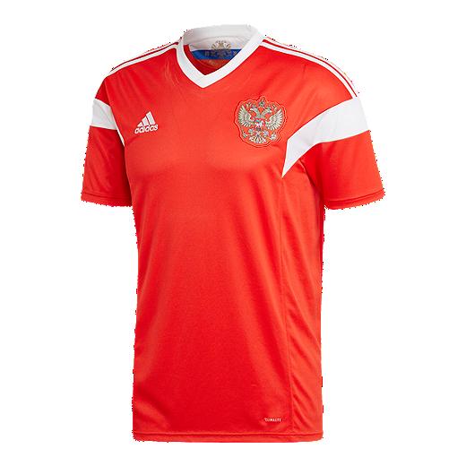 competitive price 42835 76973 adidas Men's Russia 2018 Home Replica Soccer Jersey