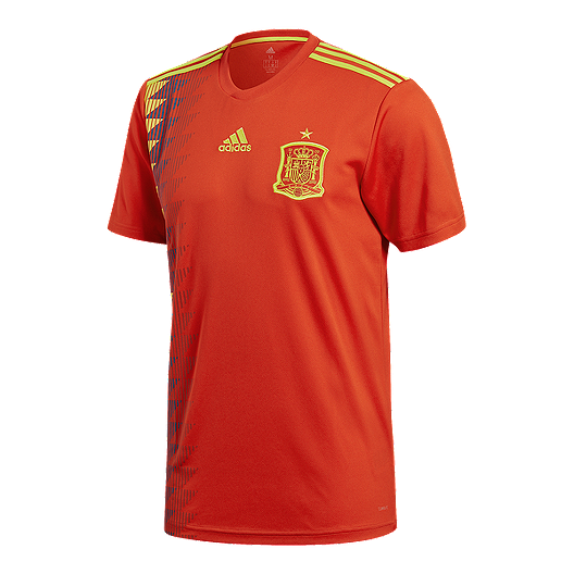 d5fa80872 adidas Men s Spain 2018 Home Replica Soccer Jersey