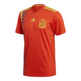 adidas Men's Spain 2018 Home Replica Soccer Jersey