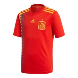 adidas Spain Kids' 2018 Home Soccer Jersey
