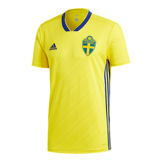 3fa4cb61d4d adidas Men s Sweden 2018 Home Replica Soccer Jersey