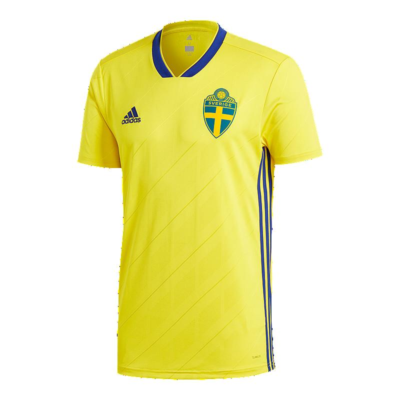 adidas Men s Sweden 2018 Home Replica Soccer Jersey  fbc80853d