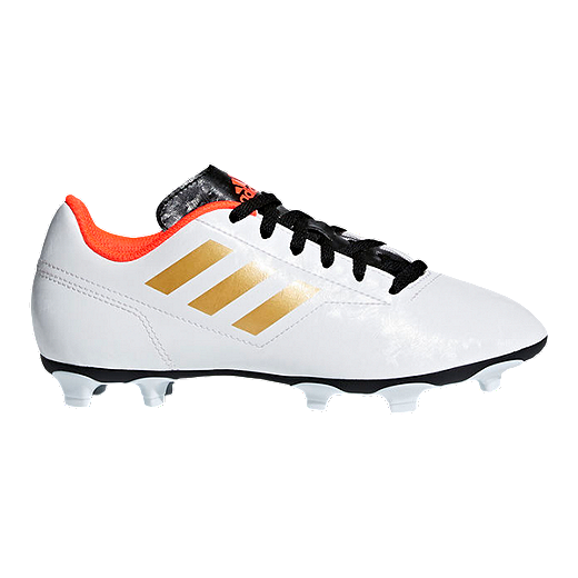 4a3ee0a339bf adidas Kids' Conquisto II FG Outdoor Soccer Cleats - White/Gold - WHITE