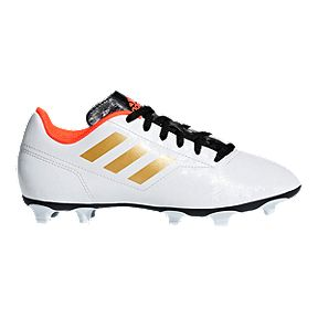 a48d86518 adidas Kids  Conquisto II FG Outdoor Soccer Cleats - White Gold