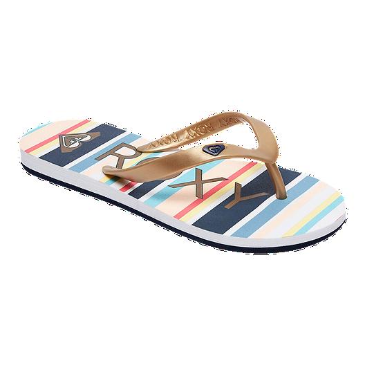 2efea86ee Roxy Girls  Tahiti VI Flip Flop Sandals - Neutral