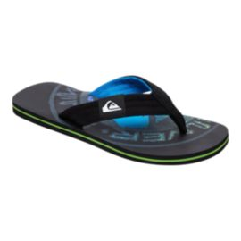 Quiksilver Men's Molokai Layback Sandals - Black/Gray