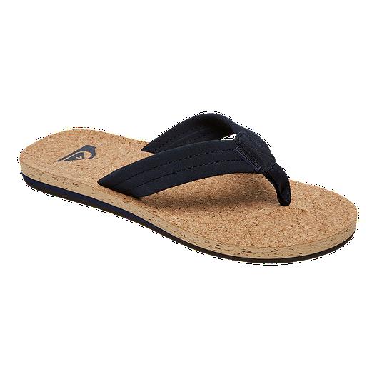ce5377e44e7 Quiksilver Men s Carver Cork Sandals - Black Brown