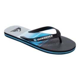 Quiksilver Kids' Molokai Highline Slab Sandals - Black/Blue/Grey