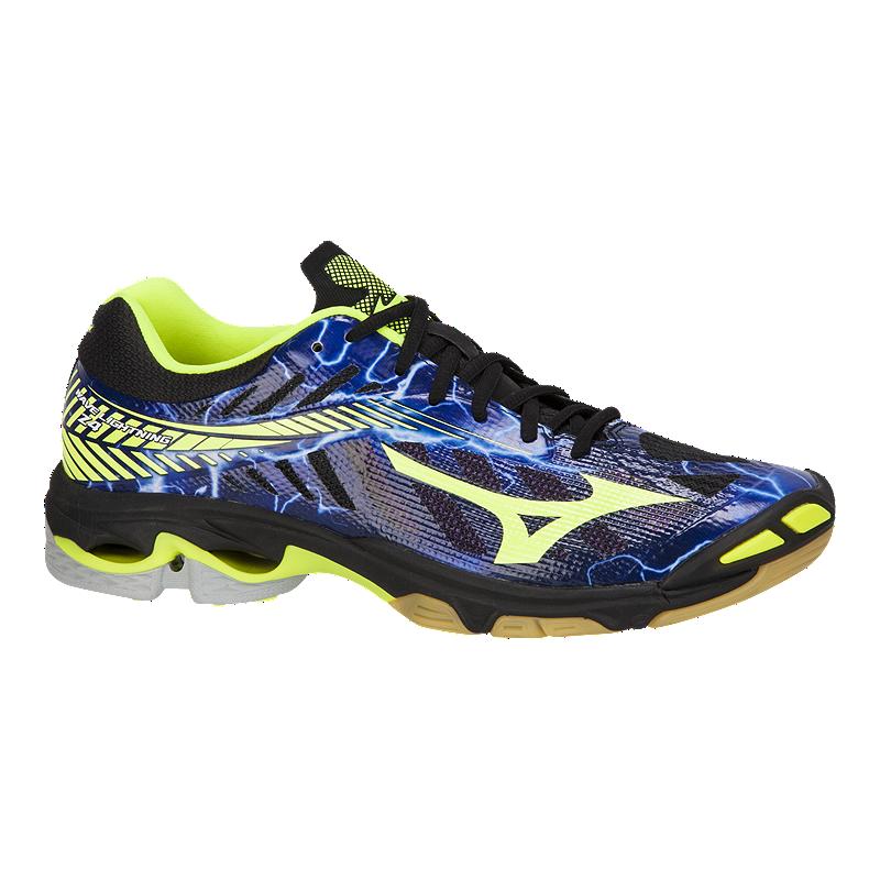 92748a46d997 Mizuno Men s Wave Lightning Z4 Indoor Court Shoes -Blue Black Yellow ...