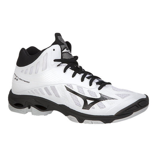 3e880966b5e4e Mizuno Men s Wave Lightning Z4 Mid Indoor Court Shoes - White Black ...
