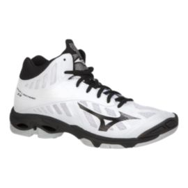 Mizuno Men's Wave Lightning Z4 Mid Indoor Court Shoes - White/Black