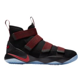 Nike Men's LeBron Soldier XI Basketball Shoes - Black/Red