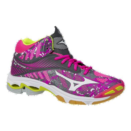 083350e2 Mizuno Women's Wave Lightning Z4 Indoor Court Shoes - Pink/Silver | Sport  Chek