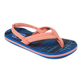 Reef Girls' Little Ahi Sandals - Navy/Coral