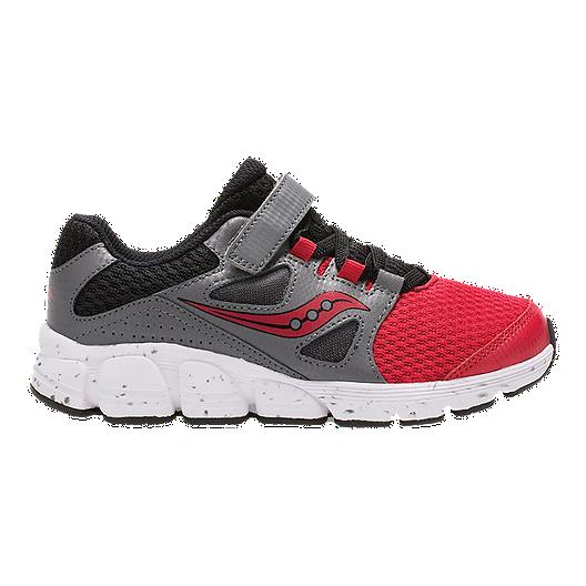 cc1f67e5aa42 Saucony Kids  Kotaro 4 AC Preschool Shoes - Red Grey Black
