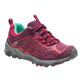 Merrell Girls' Moab FST Low Waterproof Grade School Hiking Boots - Berry