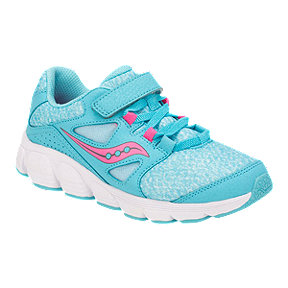 Saucony Girls' Kotaro 4 Alternative Closure Preschool Sneaker Shoes - Turquoise/White