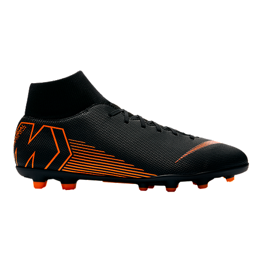 d192d60baba Nike Men s Mercurial Superfly 6 Club MG Outdoor Soccer Cleats -  Black Orange White