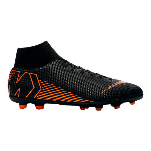 720a106197fdd3 Nike Men's Mercurial Superfly 6 Club MG Outdoor Soccer Cleats -  Black/Orange/White | Sport Chek