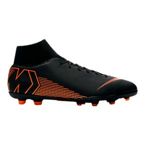 baf733618658 Nike Men s Mercurial Superfly 6 Club MG Outdoor Soccer Cleats - Black  Orange White