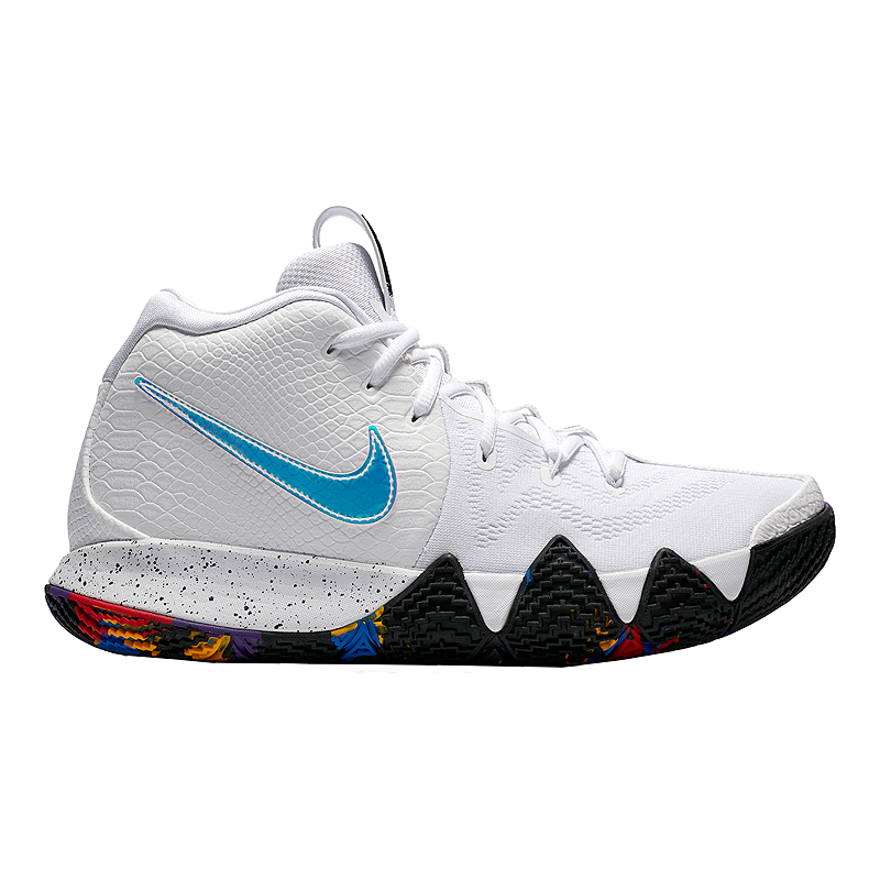 best service 01bc5 17d64 Nike Men s Kyrie 4 Basketball Shoes - White Multi   Sport Chek