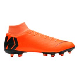 Nike Men's Mercurial Superfly 6 Academy MG Outdoor Soccer Cleats - Orange/Black/Volt Green