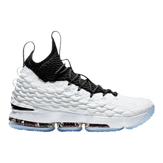 quality design 06d68 f00af Nike Men's LeBron 15 Basketball Shoes - White/Silver/Black ...