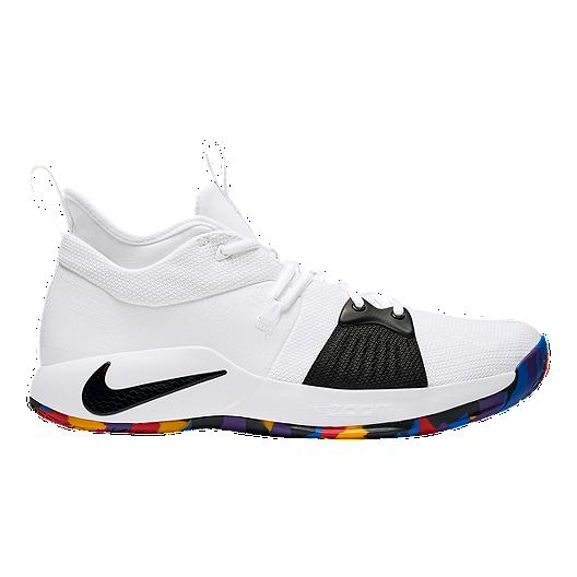 e10d1b802623 Nike Men s PG 2 Basketball Shoes - White Multi