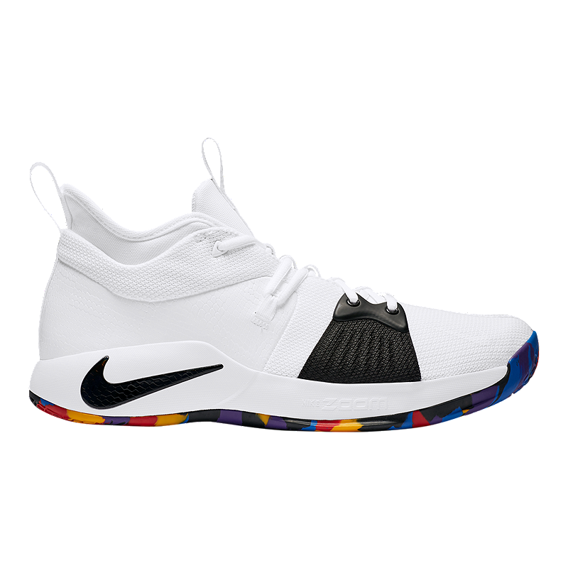 san francisco b5d72 aa0bc Nike Mens PG 2 Basketball Shoes - WhiteMulti  Sport Chek