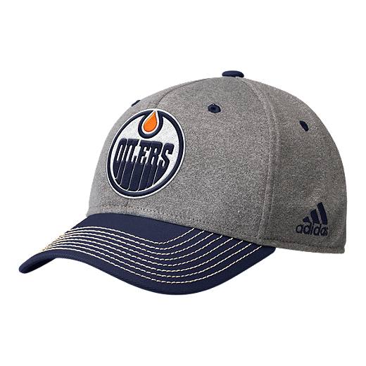 lowest price 2d830 90d6f Edmonton Oilers adidas Men s Heather Structured Adjustable Hat - GRAY