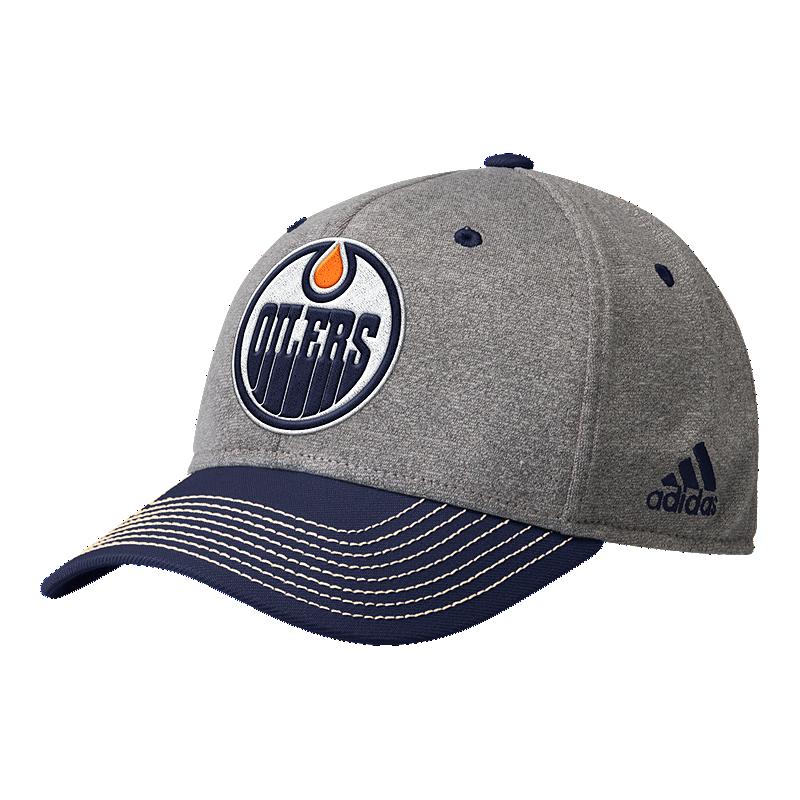 2dc8abfa4ec Edmonton Oilers adidas Men s Heather Structured Adjustable Hat ...