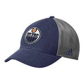 Edmonton Oilers adidas Men s Mesh Back Structured Hat 5ac2e1e94