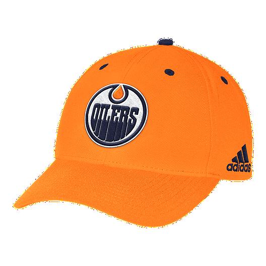 94d29529ae277 Edmonton Oilers adidas Men s Structured Adjustable Meshback Hat ...