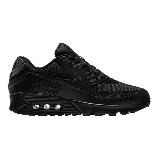 18e70db96b Nike Men's Air Max 90 Essential Shoes - Triple Black - BLACK/BLACK/BLACK