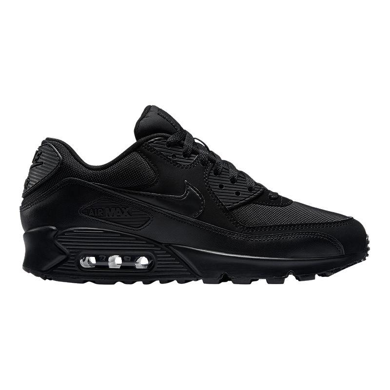 Nike Men's Air Max 90 Essential Shoes - Triple Black | Sport ...