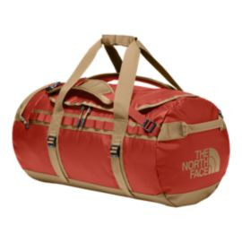 The North Face Base Camp 70L Medium Duffel Bag - Bossa Nova Red/Kelp Tan