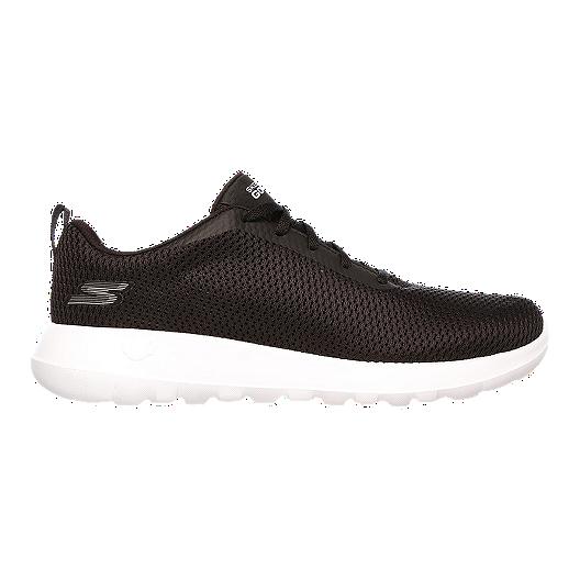ca6b13520eea Skechers Men s Go Walk Max Wide Width Shoes - Black White