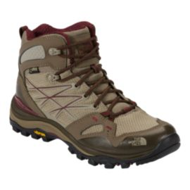 The North Face Women's Hedgehog Fastpack Mid Gore-Tex Hiking Boots - Beige/Red