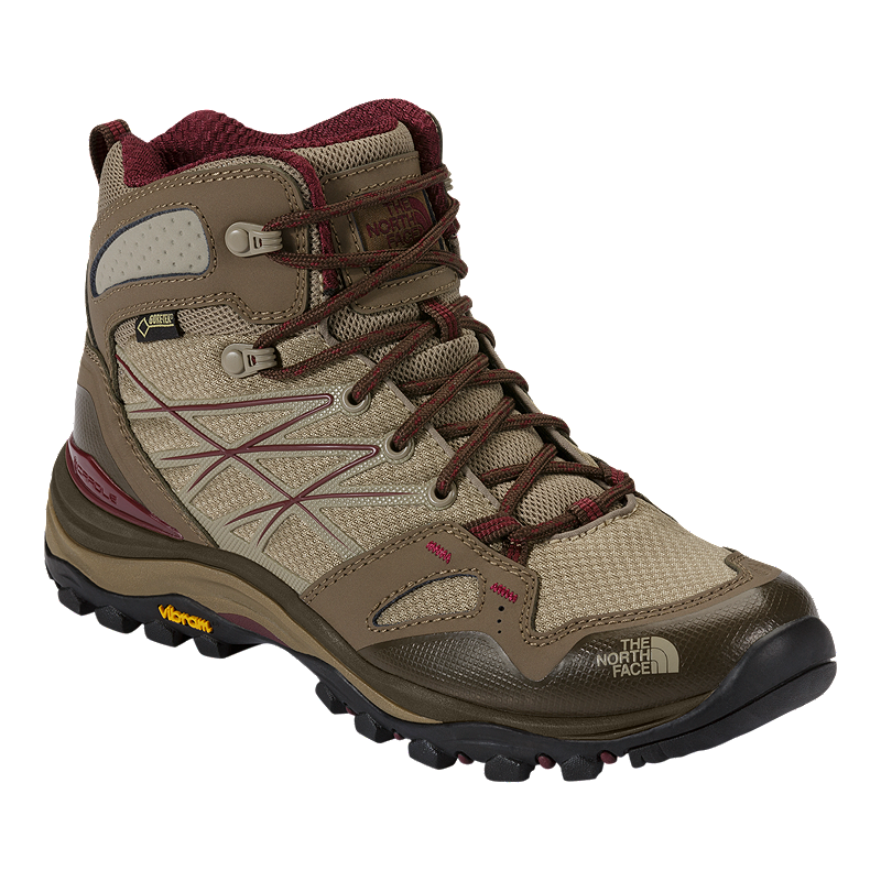 1b85330ed5e The North Face Women's Hedgehog Fastpack Mid Gore-Tex Hiking Boots -  Beige/Red