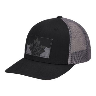 4611b0073 Columbia Men's Mesh Snapback Hat - Black Canadian Rockies