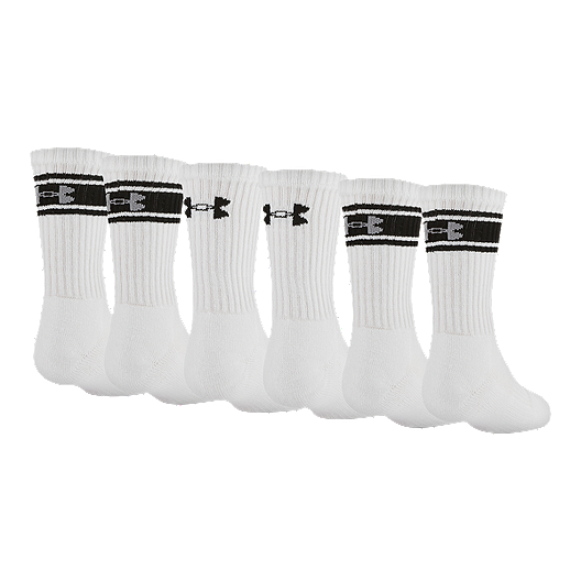 eaafa99c9c Under Armour Men's Charged Cotton 2.0 Crew Socks - 6 Pack