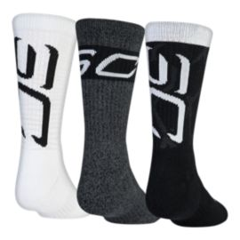 Under Armour Men's Phenom Curry Crew Socks - 3 Pack