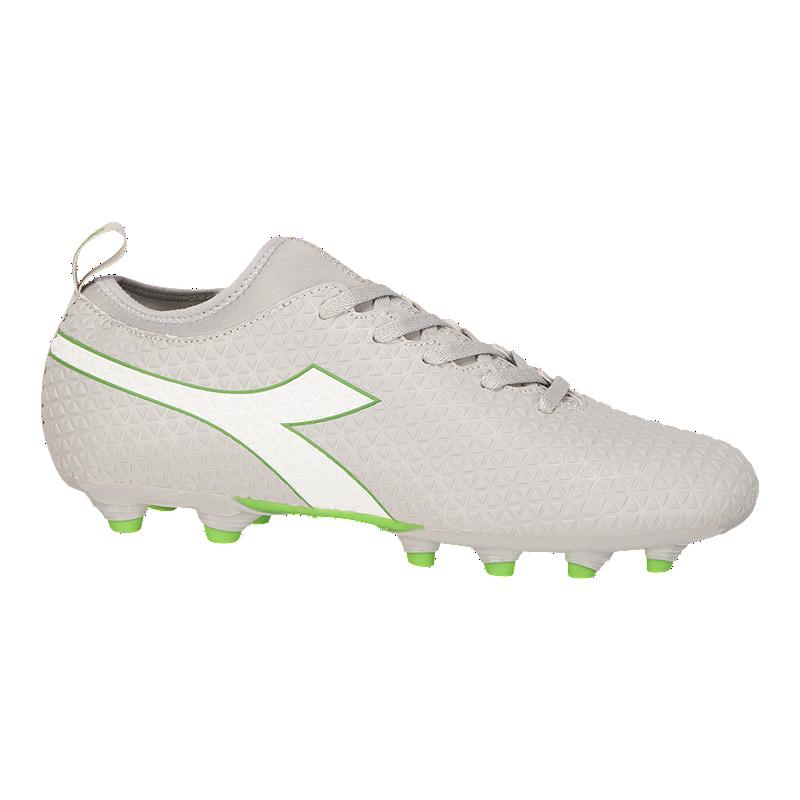 ef9abaa47eb4 Diadora Women s Charge FG Outdoor Soccer Cleats - Grey White Green ...
