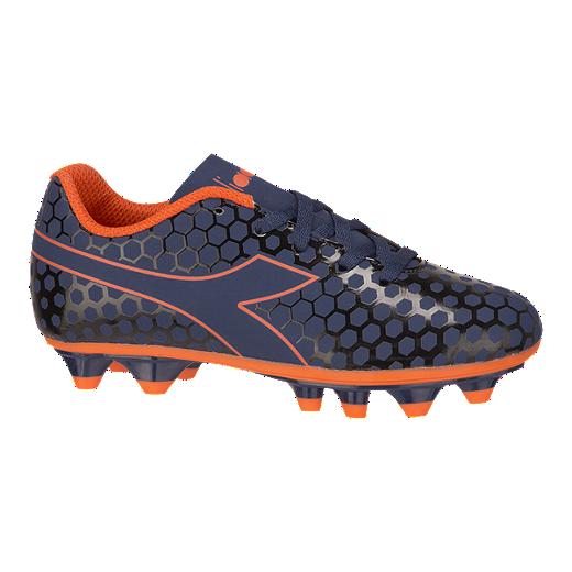 efe50e7bbce01 Diadora Kids' Primo FG Grade School Outdoor Soccer Cleats - Blue/Orange -  BLUE