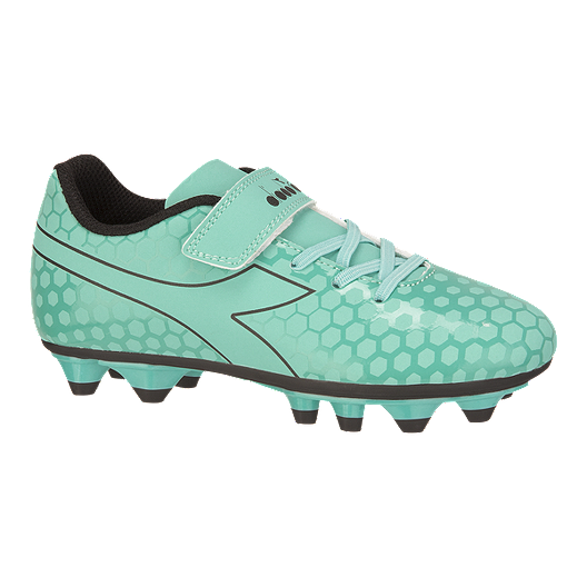 bdcce39d17 Diadora Girls' Primo FG Velcro Pre School Outdoor Soccer Cleats - Light Blue