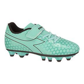 e96568192668 Diadora Girls' Primo FG Velcro Pre School Outdoor Soccer Cleats - Light Blue