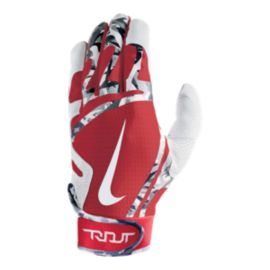 Nike Trout Edge Batting Gloves - University Red/White