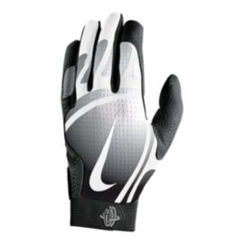 Nike Hurache Pro Batting Gloves - Black